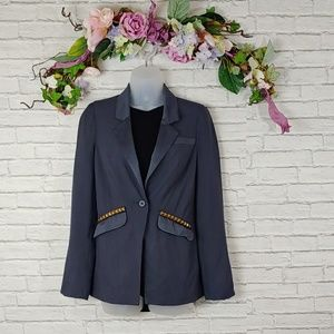 Free People Vice Studded Blazer Size 0